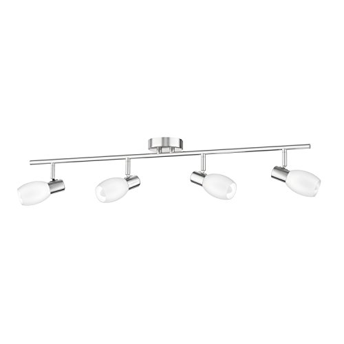 Glasschirm Leuchten Für Die (ledscom.de Deckenleuchte LUPI, vierflammig inkl. LED E14 Lampen je 400lm matt warm-weiß)