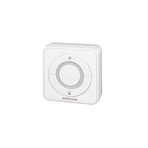 Hörmann 4511647 Drucktaster/Innentaster IT3b-1 ~ überzeugt durch exklusives Design und 100% ige Kompatibilität, große Taste mit beleuchtetem Ring, komfortable Öffnung des Tores
