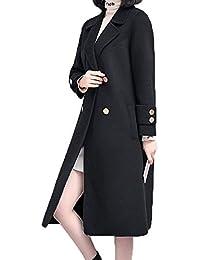 bf5ab849d5a Sodhue Femme Manteau Classique Wool Coat Trench-Coat Capuche Veste Épaise  Manches Mi-Longue Veste Élégante Manteau Chaud…