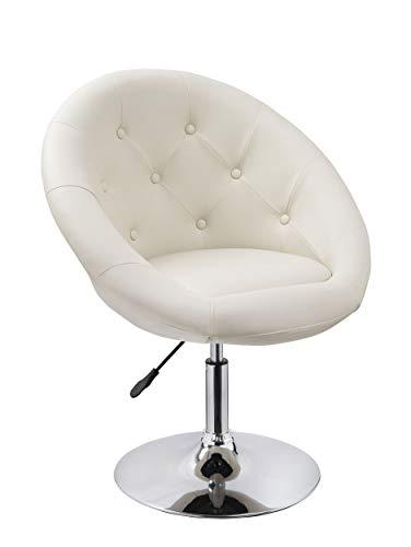 Sessel in Creme höhenverstellbar Kunstleder Clubsessel Coctailsessel Lounge Sessel Duhome 0334