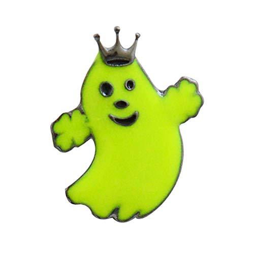 (BESTOYARD Halloween Broschen Glowing Ghost Cartoon Brosche Emaille Breastpin Schmuck Zubehör Geschenk für Frauen Mädchen (X2189))