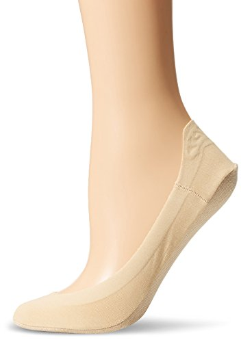 HUE Women's Hidden Cotton Perfect Edge Gel Tab Liner Socks