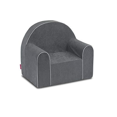 Midi Fauteuil enfant enfants Baby Fauteuil Fauteuil canapé chaise Chaise pour enfant mousse écologique (Gris)