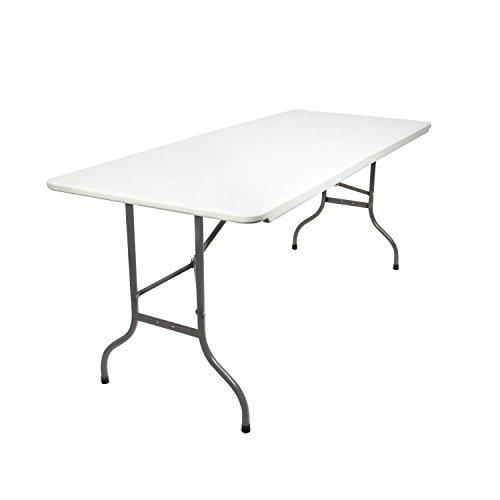Vanage vg-9610 tavolo pieghevole, bianco, 90x75x8 cm
