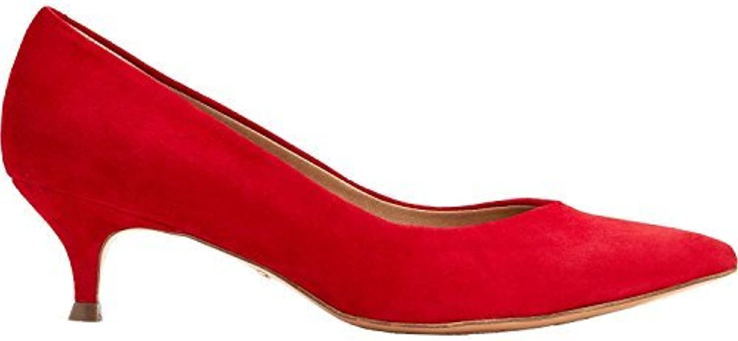 Vionic Orthaheel Technology Women's Josie Red Suede Red 9 Wide