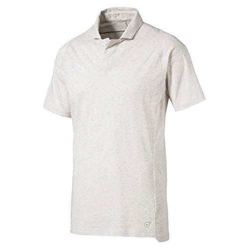 PUMA Herren FINAL Casuals Polo Poloshirt, White Heather, L