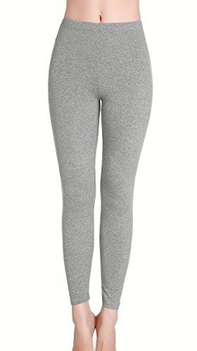 Damen Trendige - Sport Weich und atmungsaktiv leggings Hosen - YOGA Jogginghose Lichtgrau