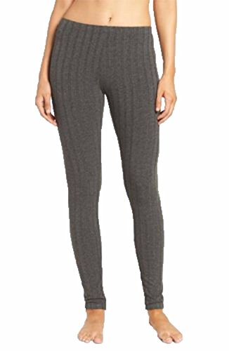 Womens Ladies Warm Thick Ribbed Chunky Cable Knit Full Length Stretchy Leggings Pants