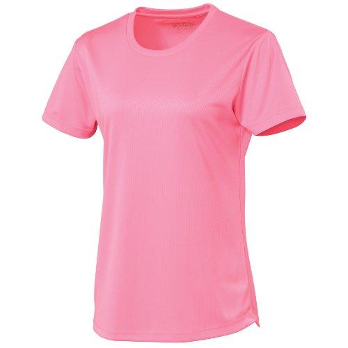 T-shirt sport uni Just Cool pour femme Pourpre