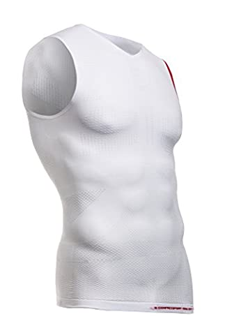 Compressport On/Off Tank T-Shirt première couche compressif Homme Blanc FR : M (Taille Fabricant : T2)