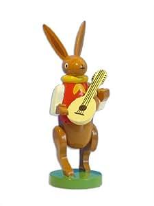 Wendt und kühn musikant lapin de pâques avec mandoline osterdekoration en bois