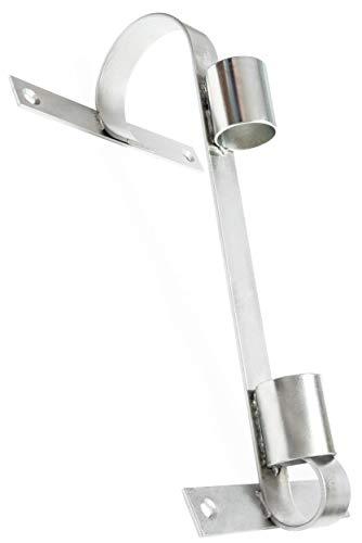 Fahnenhalter, Robustes Verzinktes Metall, Silberfarben, Für Große Und Kleine Fahnen