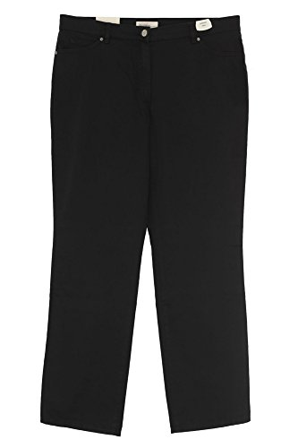 GARDEUR Jeans Inga Damen Stretch Slim Fit Gabardine, Farbe:schwarz;Damengrößen:44;Hosenlängen:Short (Gabardine Slim)