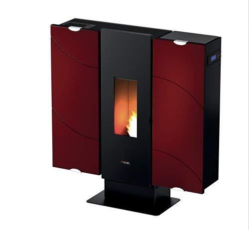 CADEL Wall Plus Pelletofen 10 kW Pellet Ofen Wall-Keramik-Rot