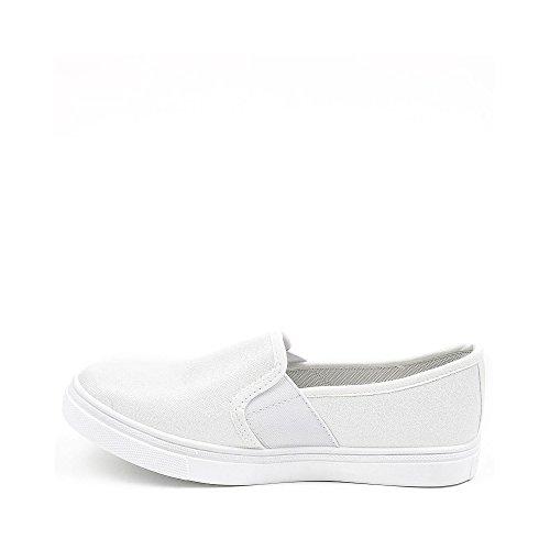 ... Ideal Shoes, Damen Slipper & Mokassins Weiß ...