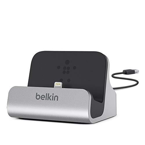 Belkin F8J045BT Lightning Sync/Ladedock (für iPhone XS, XS Max, XR, X, 8/8 Plus und andere Geräte) silber