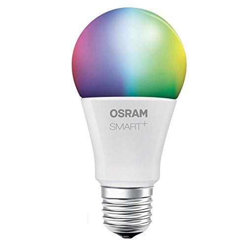 OSRAM Smart+ LED, ZigBee Lampe mit E27 Sockel, warmweiß bis tageslicht, Farbwechsel RGB, dimmbar, Direkt kompatibel mit Echo Plus und Echo Show (2. Gen.), Kompatibel mit Philips Hue Bridge -