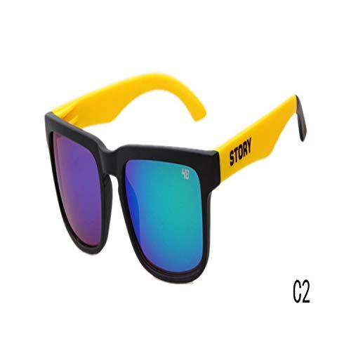 Sportbrillen, Angeln Golfbrille,Classic Hot Sales Sunglasses STORY Brand Design Fashion Women Men Sunglasses Star Style Sun Glasses Outside Eyewares UV 400 C2