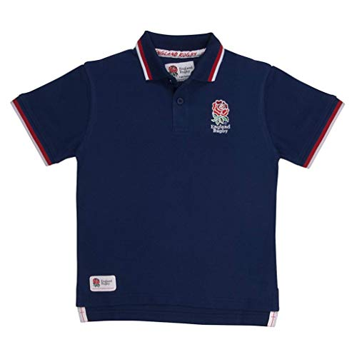 England Rugby Kinder Poloshirt klassisch Piqué XL Navy -