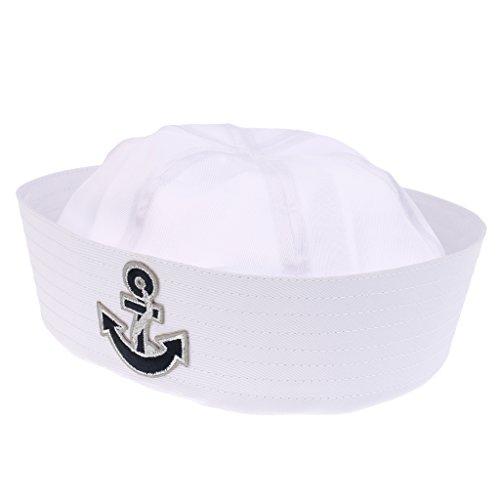 MagiDeal Kostüm Zubehör, Motiv Matrosenuniform, Navy sailorn, Marine hut für Erwachsene/Kinder - Farbe 10, wie beschreiben Baby-captain Hut