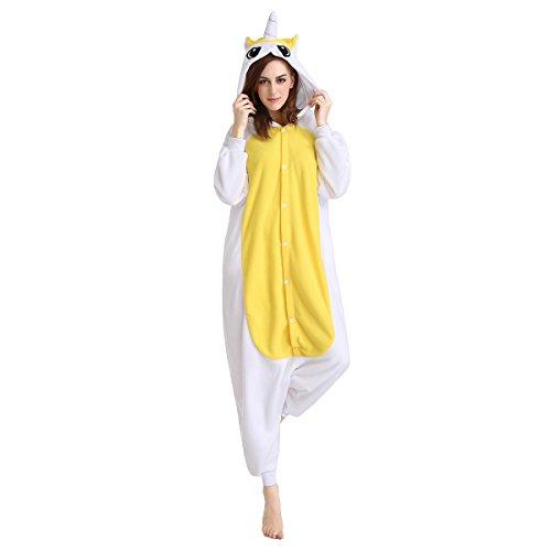 Kostüm Flügel Pegasus (Generic Einhorn Schlafanzug Unisex Fleece Pegasus mit Flügel Pyjama mit Kapuze für Ladie, Man Einheitsgröße)