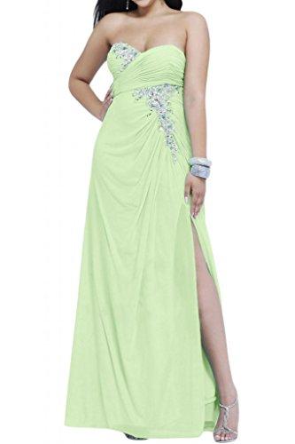 Toscana sposa Chic a forma di cuore kraftool Chiffon sposa giovane a lungo per abiti da sera un'ampia Party ball vestimento Salbei