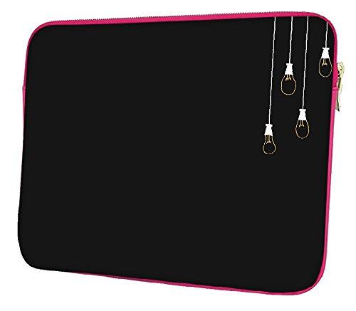 Snoogg Leuchtmittel Designer, 38,1cm Zoll auf 39,4cm Zoll zu 39,6cm Zoll Laptop Notebook Schuber Sleeve Soft Case, der Fall für MacBook Pro Acer Asus Dell HP Sony Toshiba