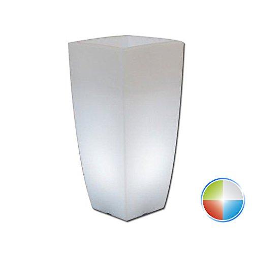 Galleria fotografica Vaso Agave Quadrato Con Led Multicolor H70 33x33Cm