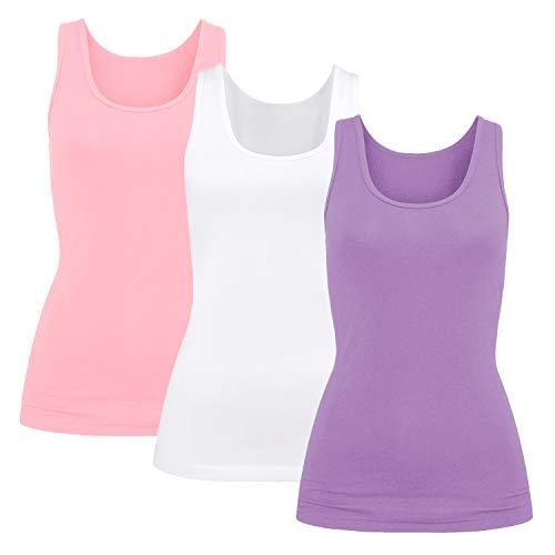 3er Pack Damen BH-Hemd Unterhemd Basic Tank Tops Weiten, gebraucht gebraucht kaufen  Wird an jeden Ort in Deutschland