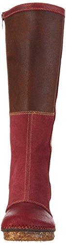 art AMSTERDAM, Bottes hautes avec doublure froide femme Rouge (Wax Rioja)