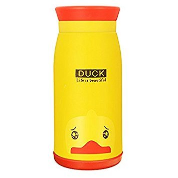 SODIAL(R) Termo empty bottle, water bottle travel mug with creative cartoon, 350 ml stainless steel