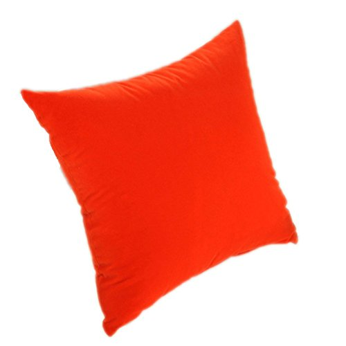 Aoibox Home Sofa Autositz dekorativer Überwurf-Kissenbezug mit Innen, Baumwolle, Orange, 15.7