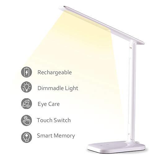 Lámpara Escritorio, Lámpara LED Mesa Regulable Recargable