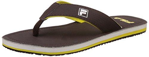 Fila Men's Bengino Brown and Yellow Hawaii Thong Sandals -10 UK/India (44 EU)