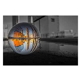 Yeti-Gold-Glaskugel-Fotografenqualitt-8cm-mit-oder-ohne-Glassockel
