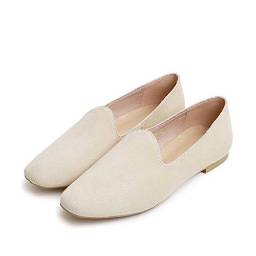 Asakuchi Confortables Chaussures Plates Dans Le Printemps / Version Coréenne De Joker Chaussures Pour Femmes / Simples Chaussures De Couleur Unie B