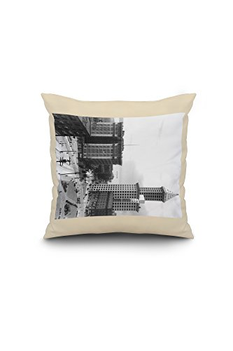 frye-hotel-and-smith-tower-photograph-16x16-spun-polyester-pillow-case-white-border