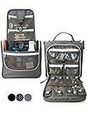Wayfarer Supply Co. Wayfarer Supply Colgante Bolsa de artículos de tocador: Bolsa de viaje Pack-It-Flat, (Gris con porta joyas)