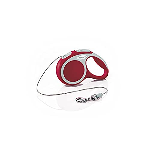 Flexi Vario Mini Cord Retractable Belt Dog Leash Safety Pet Collar Red 18lbs