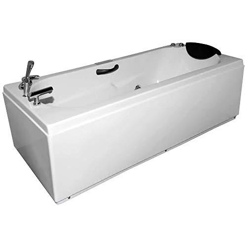 Idroness vasca da bagno idromassaggio rettangolare 170x70 cm delphinos 807