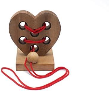 Coeur En Bois :Casse-Tête 3D fait à la la la main ; organique puzzle en bois de SiamFemmedalay | Belle  401570