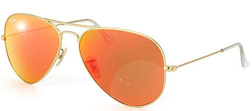 Ray Ban Unisex Sonnenbrille Aviator, Gr. Large (Herstellergröße: 55), Gold (gold 112/69)