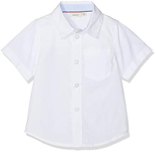 NAME IT Baby-Jungen NMMFABIO SS SHIRT Hemd, Weiß (Bright White), (Herstellergröße: 86)