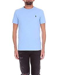 Polo Ralph Lauren T-Shirt Manica Corta Logo Mod. 710671438 Azzurro Mod.  710671438 07b832c9b672