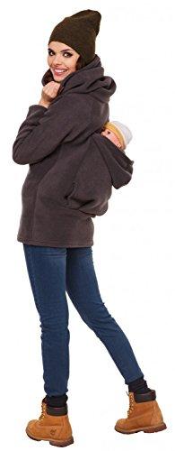 Zeta Ville - Maternité pull molletonné bébé écharpe de portage - femme - 030c Graphite