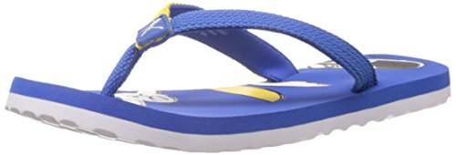 Puma Boy's Cool Cat Jr Ind. Black-Blue-Fluro Yellow Mesh Flip Flops and House Slippers - 2C UK  available at amazon for Rs.340