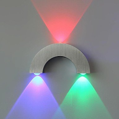 XXTT- lampada da parete ad arco portato tre luci blu