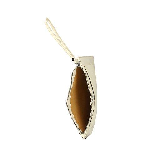Chicca Borse Borsa a tracolla in pelle 28 x 18.5 x 2 100% Genuine Leather Beige Aclaramiento Comercializable Realmente Venta Nueva Llegada Precio Barato lkHMG