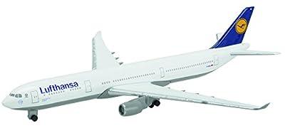 Schuco 403551646 - Flugzeug, Lufthansa, A330-300, 1:600, weiß/blau von Dickie Spielzeug
