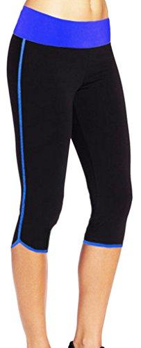 4How Damen Capri Leggings 3/4 kurz Sporthose Fitness Yogahose Tights Jogginghose